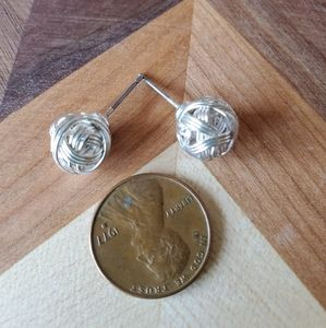Silver wire wrapped ball studs